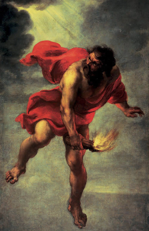 Prometheus als Feuerträger