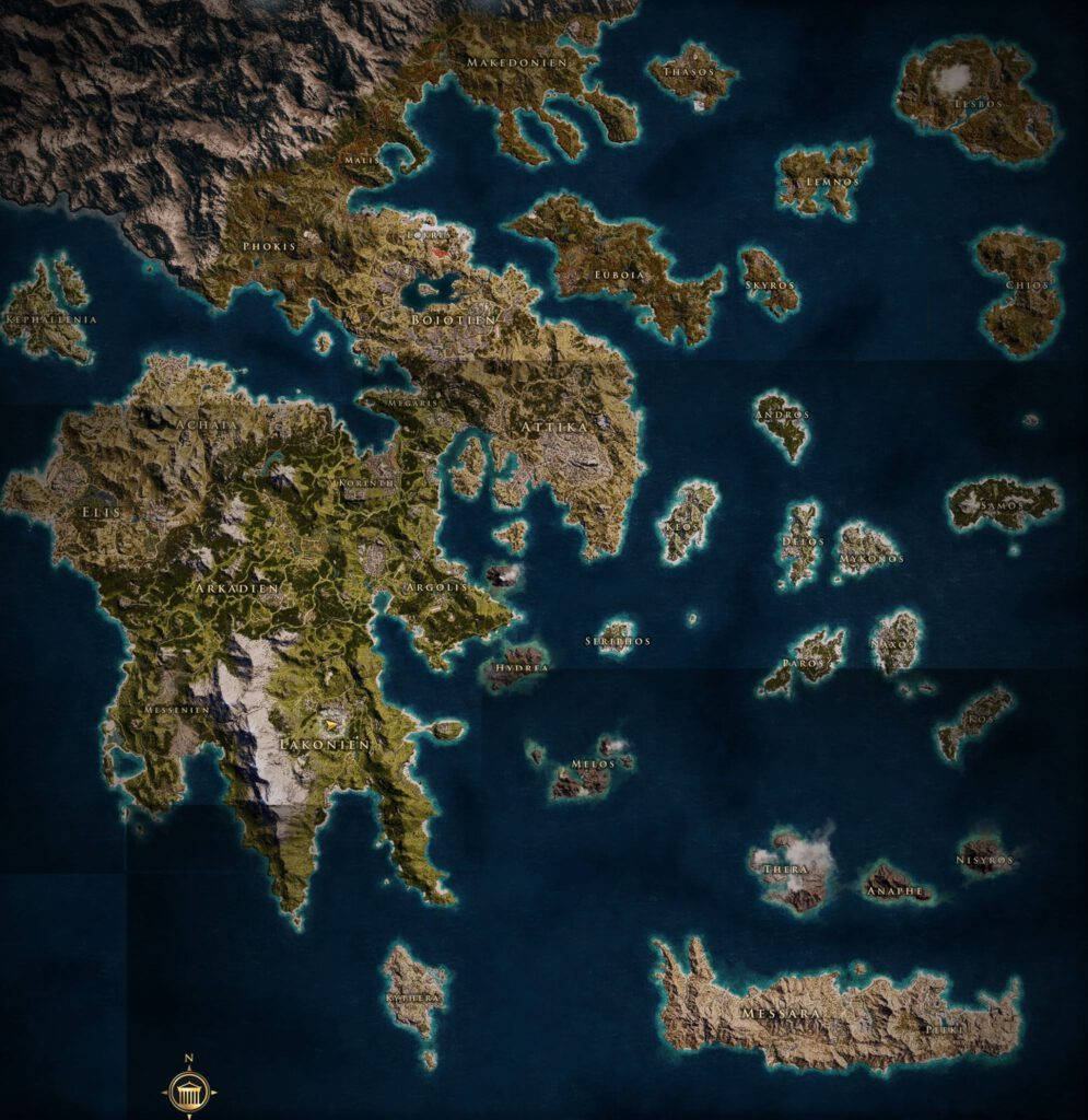 Karte Assassin's Creed Odyssey