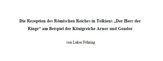Arnor Gondor Römisches Reich
